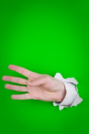 Left hand as if counting the number four. Stock Photo - 9711973