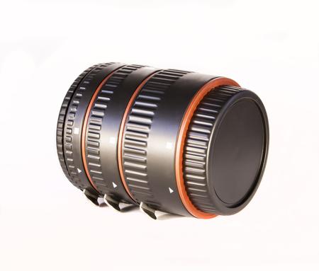 Anillos de macro para una lente Foto de archivo