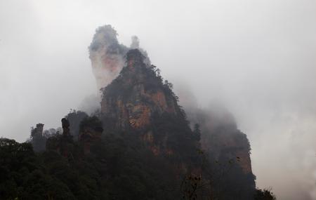 Nature scenery landscape view of Zhangjiajie Фото со стока