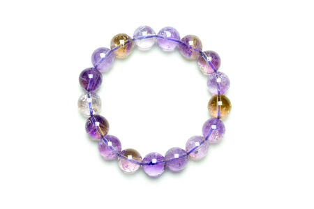 Ametrine bracelet on white backgroud Stock Photo - 28020780