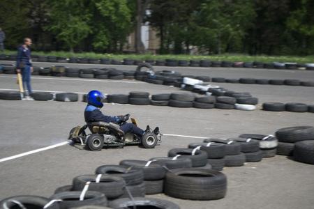 the karting championship in Donetsk