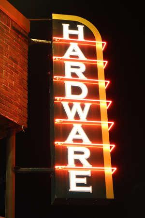 Glowing Hardware Sign 版權商用圖片