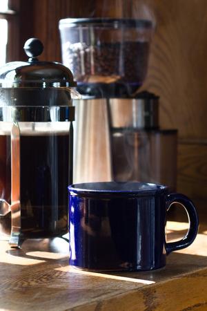 Por la mañana del Café  Foto de archivo - 57352428