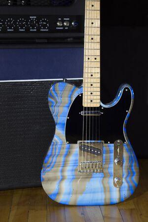 ブルース ギターとアンプ 写真素材