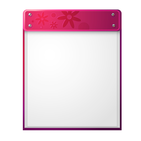Vector icon of pink notepad Stock Vector - 23074269