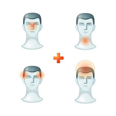 Headache People Icon Sign Symbol Pictogram Stock Vector - 23074284