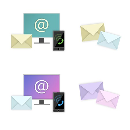 Contact icon contact us web mail telephone Illustration