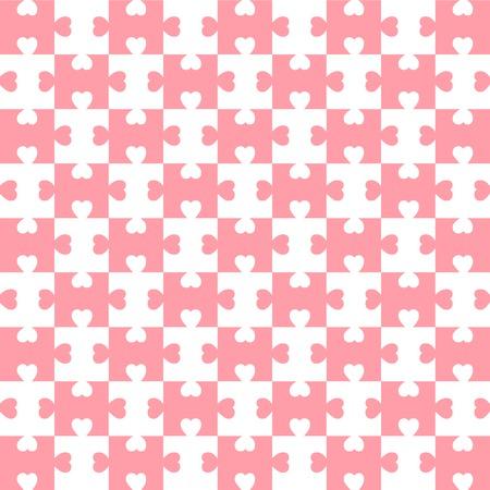 Heart pattern valentine background holiday pink white Illustration