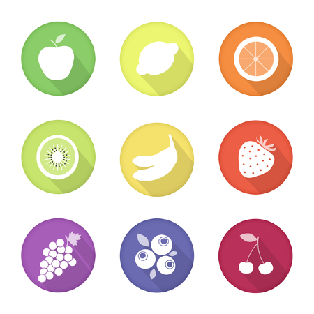 fruits alimentaires web go�t ic�nes Illustration