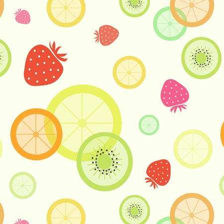 fruit pattern strawberry orange lemon kiwi lime