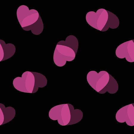 heart background pink black heart Illustration