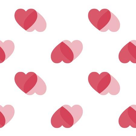 heart background red white heart Illustration