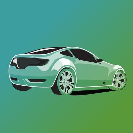 Back of car, car illustration, auto, vector Illustration