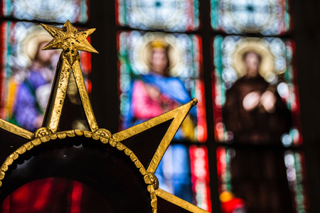 and saint: A star in the Saint Vitos cathedral