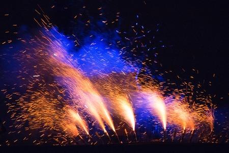 foci: fireworks show Stock Photo