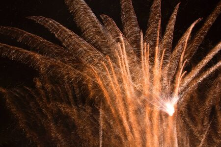 foci: Fireworks lines Stock Photo