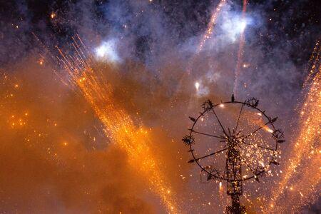 foci: Fireworks wheel