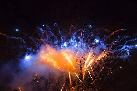 foci: Fireworks fire wheel