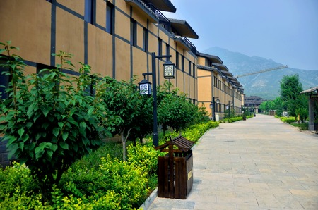 county: Lingshan town Qi County, Henan province is located in the West of the county