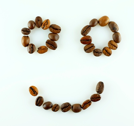 smile face: Smile of coffee beans face