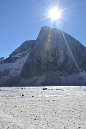 Snow-capped mountains landscape