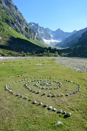 brain mysteries: Mysterious stones in spiral on the mountains