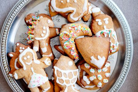 gingerbread cookies: Christmas gingerbread cookies Stock Photo