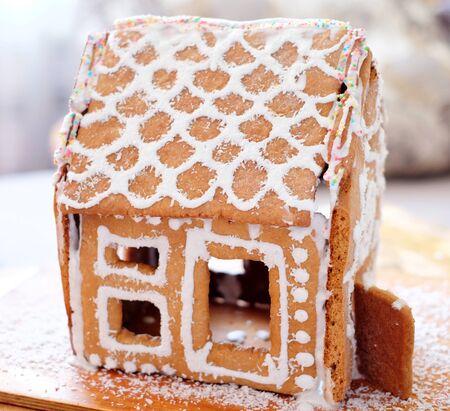 christmas house: Gingerbread house christmas Stock Photo