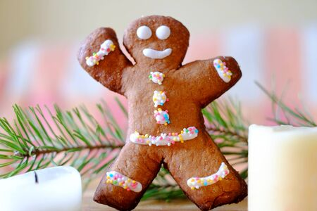 gingerbread: gingerbread boy Stock Photo