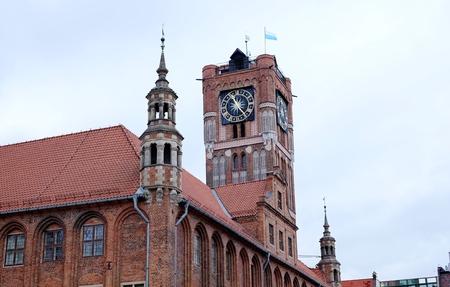 torun: Old Town Hall in Torun town Stock Photo