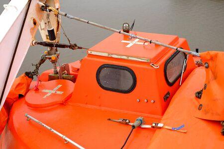 lifeboats: Lifeboats on the ship cruise, rescue sea boat orange