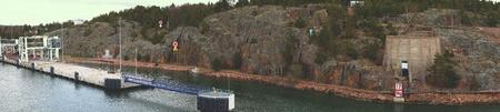 sea seaport: Seaport and rocks beautiful, landscape sea seaport Stock Photo
