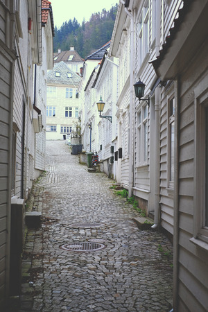 atomic bomb: The old Scandinavian streets white, wooden architecture nature