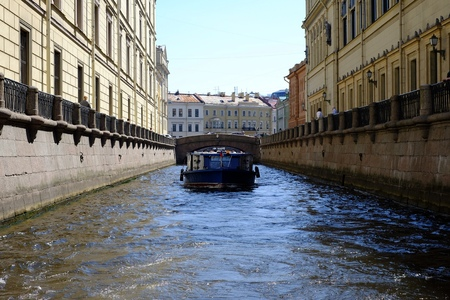 Channels in St. Petersburg river, saint, channel water architecture Stock Photo