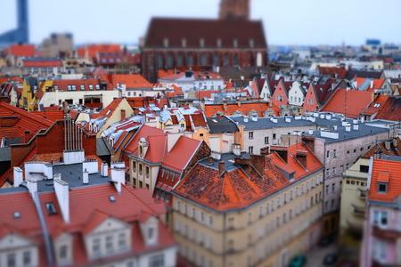 Panorama Wroclaw panorama, beroemde, europese levendige stad Stockfoto