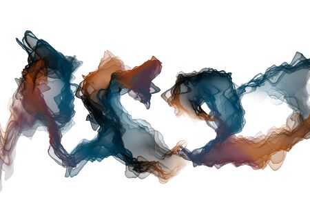 Colored abstract ink lines background Banco de Imagens