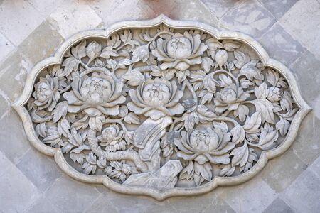 Peony relief artwork
