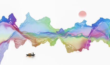 Abstract ink lines background Standard-Bild - 136943636