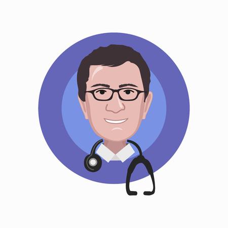 Doctor icon. Illustration