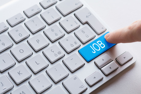 find: Keyboard button find job Stock Photo