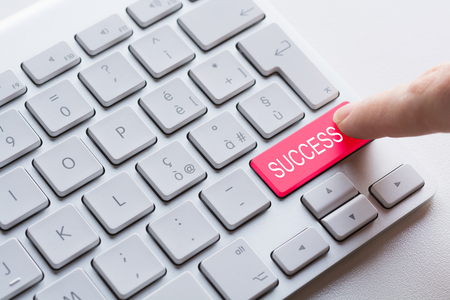 find: Keyboard button find success Stock Photo