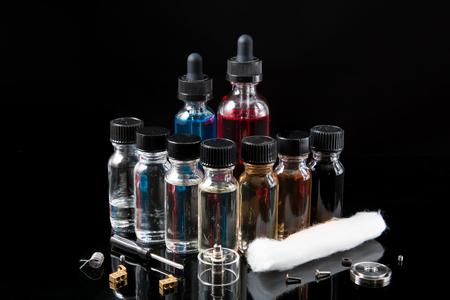 Vaporizer glass e-liquids with tools