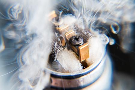 Vaporizers vape cloud - close up. Explosion vaping Stock Photo