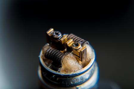 Close up on e-cigarette coils Stock Photo