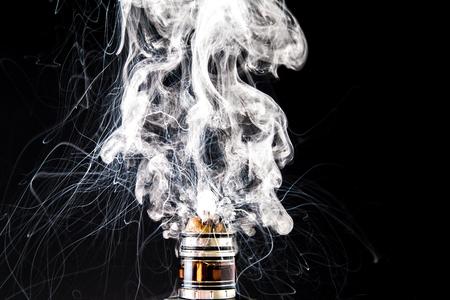 E-Cigarette vape explosion Stock Photo