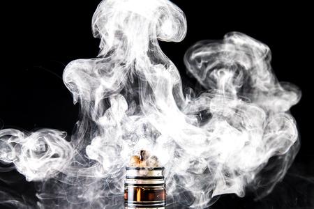 Dissassembled electronic Cigarette vape cloud