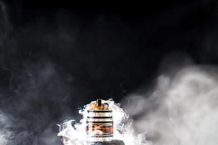 Dissassembled electronic Cigarette smoke Stock Photo