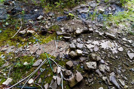 Rubble on the ground
