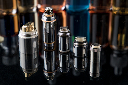 Electronic cigarette Clearomizer coils Stock Photo - 87636803