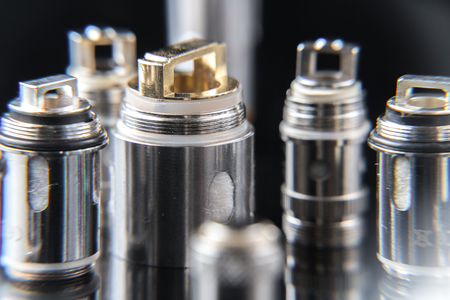 Close up on vaporizer coils Stock Photo - 87636814